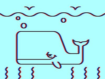 3D Whale minimalist illustraion seattle illustrations illustration illustration digital illustration art