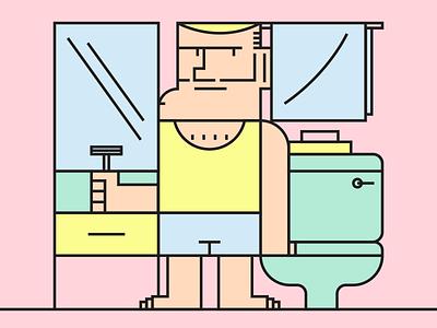 Morning Routine minimalist illustraion seattle illustrations illustration illustration digital illustration art