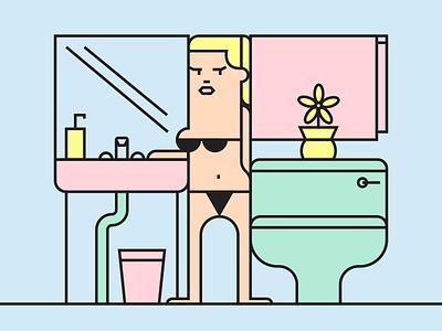 Morning Routine II minimalist illustraion seattle illustrations illustration illustration digital illustration art