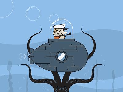 Under The Sea minimalist illustraion seattle illustrations illustration illustration digital illustration art