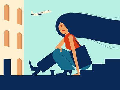 Travel minimalist illustraion seattle illustrations illustration illustration digital illustration art