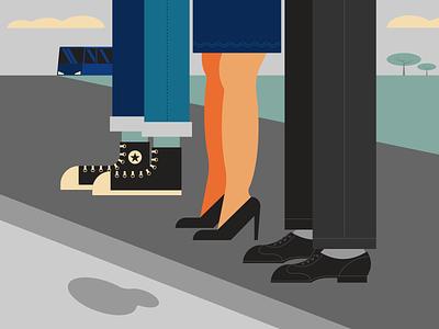 Bus Stop minimalist illustraion seattle illustrations illustration illustration digital illustration art