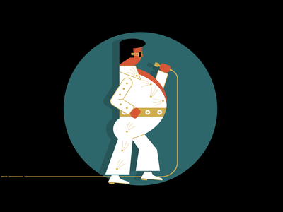 Elvis illustration digital illustration design illustration art illustration rock  roll king elvis presley