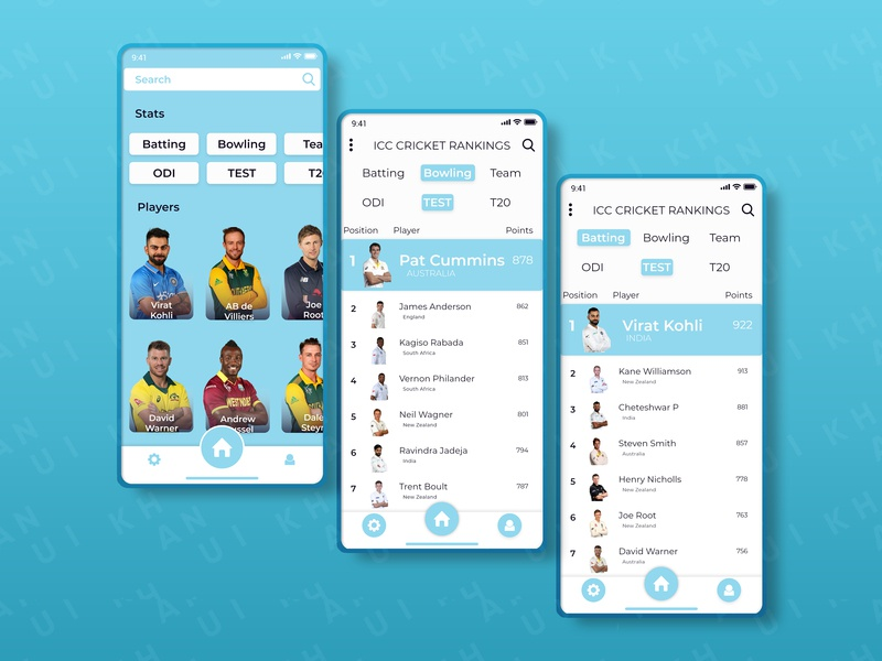 Daily UI Challenge #019 Leaderboard UI cricket colors interface design user center design android app design android ios 12 leader board leaderboard visual design design app challenge ui ux daily ui 019 daily ui
