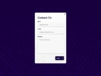 Daily UI Challenge #028 Contact UI