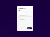 Daily UI Challenge #028 Contact UI