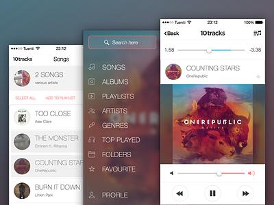 10tracks Promo player iphone ios 7 redesign cloud swipe app store sexy music blur is everywhere ios 8
