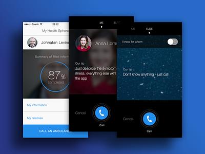 Health Sphere ios 8 mobile health medicine iphone emergency