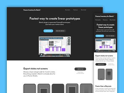 Framer Inventory Landing Page ios swipes music onboarding prototype framer