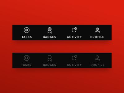 KFU ITIS Gamification Tab Bar gamification ios games dark tab bar