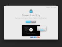 Framer Inventory 3 – Landing Page