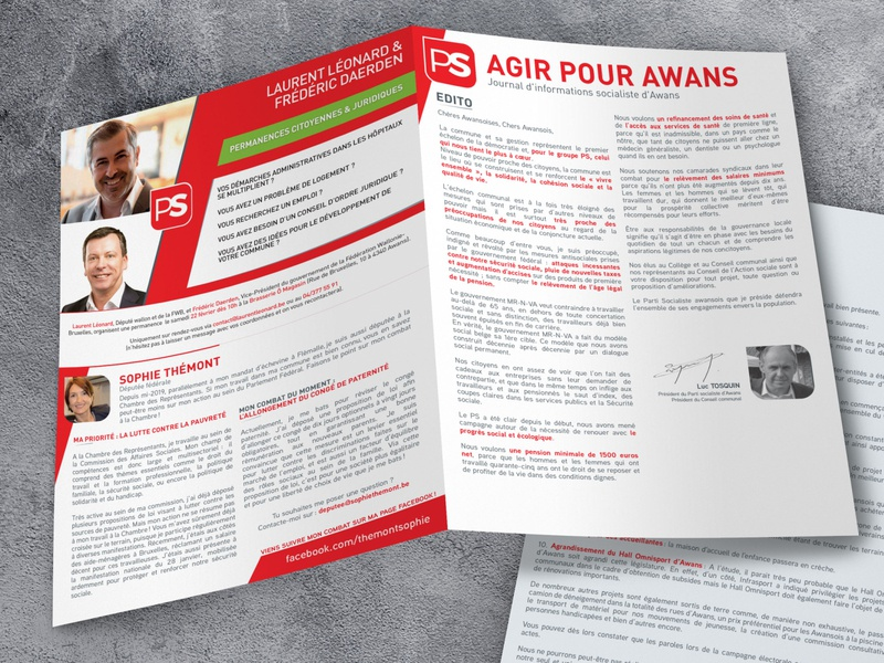 Flyer - Agir pour Awans white red colors graphisme graphiste graphism client work clientwork flyer designs flyers flyer