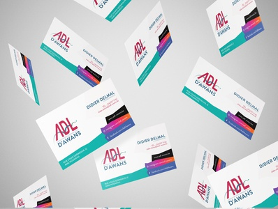 Business cards for ADL Awans logo minimalist minimal client work design business card colors clientwork branding