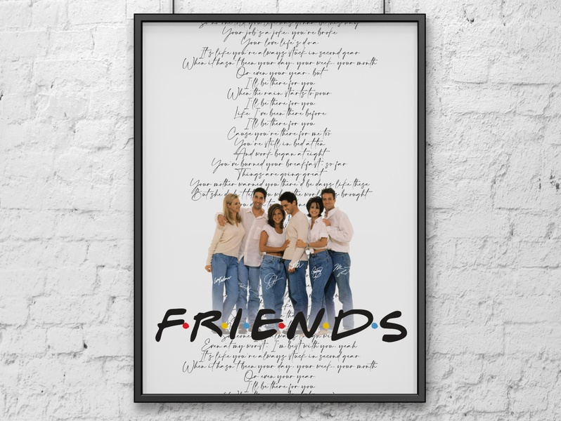 Friends personal work personal project minimalist minimal minimalist poster poster friends