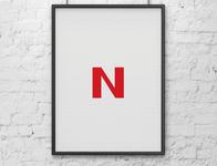 Big N red colors minimalist poster minimalist minimal poster nintendo