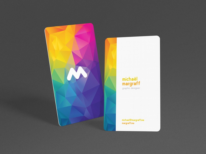 Personal business card colors minimal personal branding business card