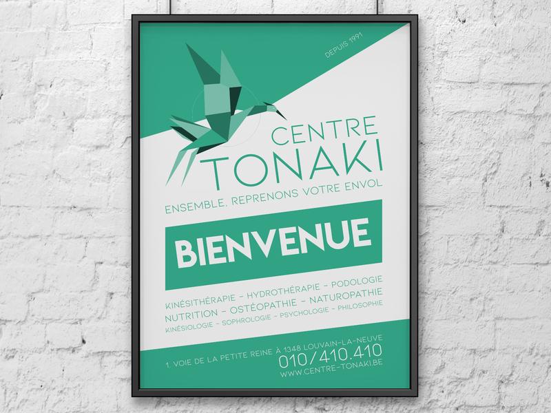 A1 poster for Centre Tonaki branding minimalist poster minimalist poster
