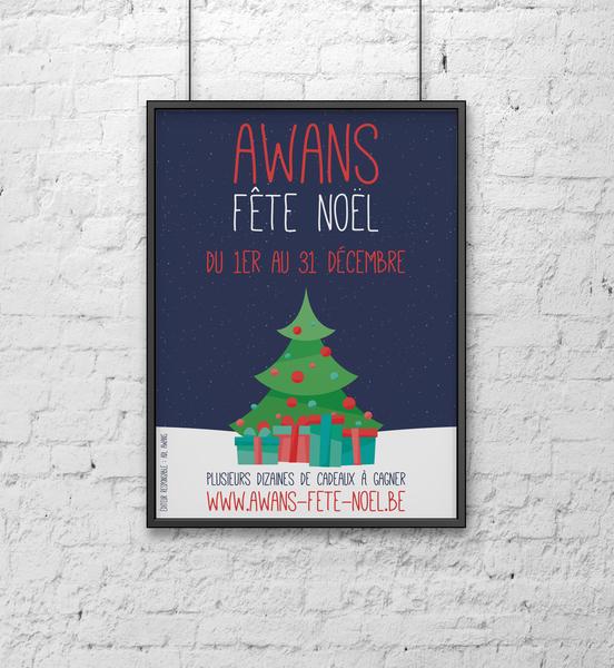 Awans Fête Noël - 2017 poster minimal minimalist poster christmas poster