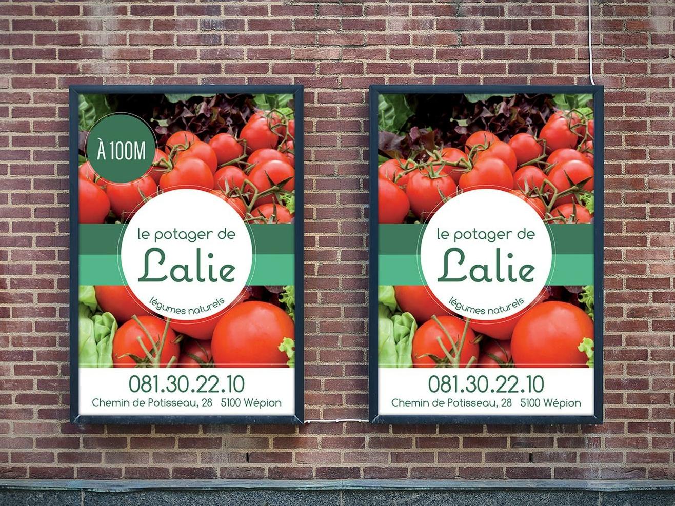 Le Potager de Lalie flyers minimal branding vegetables client work poster branding