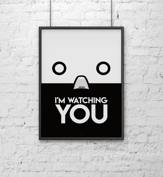 I'm watching you minimal poster minimalist poster minimalist