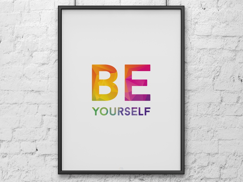 Be yourself colorful design poster minimalist poster minimalist
