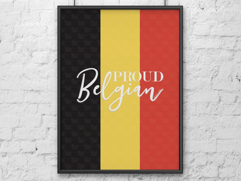 Proud Belgian colors minimal poster minimalist minimalist poster