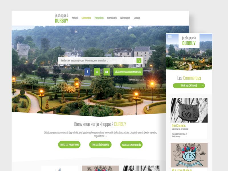 je shoppe à Durbuy responsive website website design client work old work