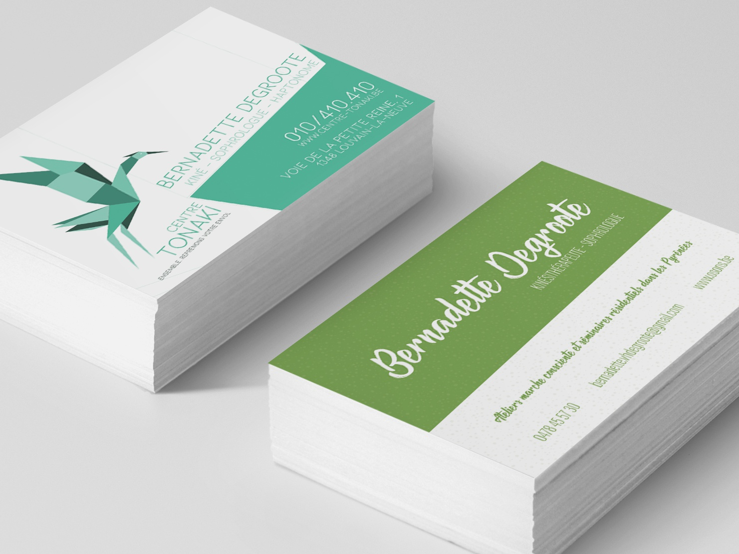 Business Card for a therapist card design client work business card