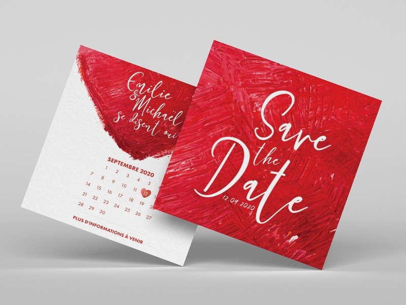 Save the Date print designer print design wedding red white wedding card save the date personal project