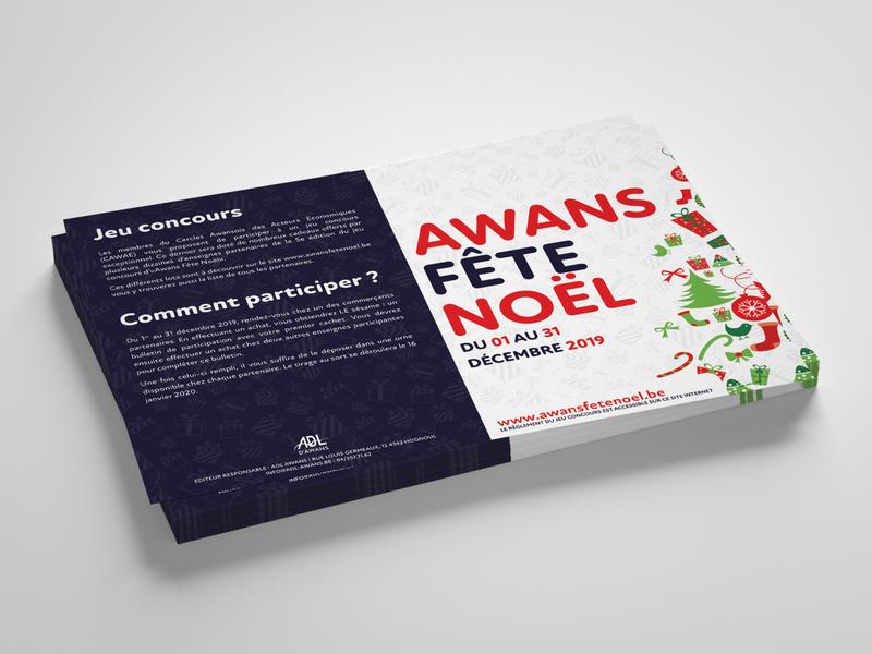 Awans Fête Noël 2019 (A6 Flyer) clean design flyer flyer design christmas flyer christmas design client work