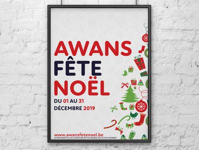 Awans Fête Noël 2019 (A1 Poster) poster design christmas design christmas poster christmas client work clientwork poster