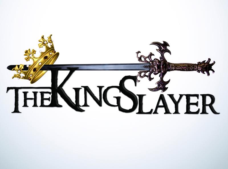The King Slayer crown sword medieval logo designer logodesign clientwork client work logo design game logo