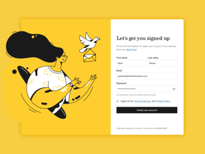 Daily UI 001 — Sign Up