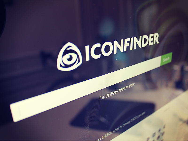 New logo and homepage for Iconfinder.com iconfinder homepage design logo icons