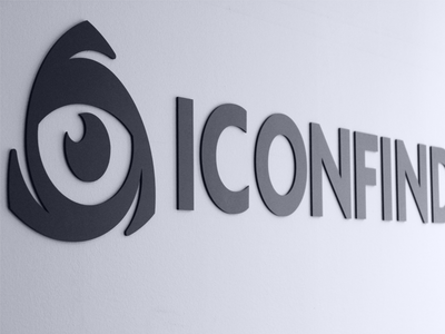 New logo on the wall at Iconfinder HQ