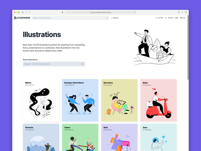 New illustration section search iconfinder illustrations