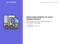 Custom icon design landing page