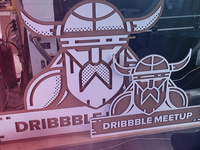 Dribbble meetup logo