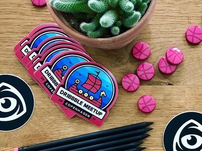 Stickers for Dribbble meetup in Copenhagen