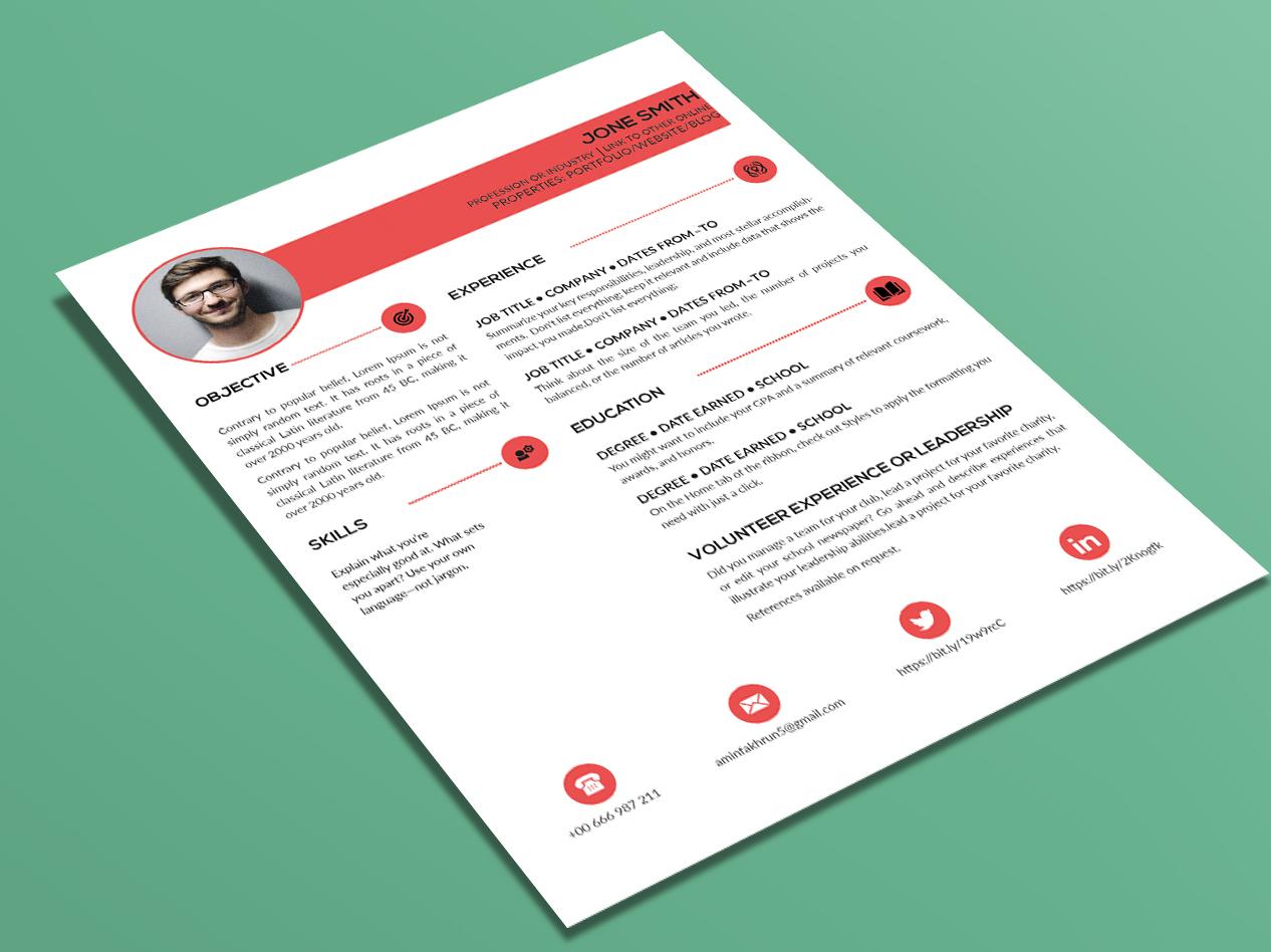CV/Resume art identity clean branding type minimal logo icon flat design