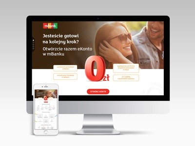 Landing page for mBank