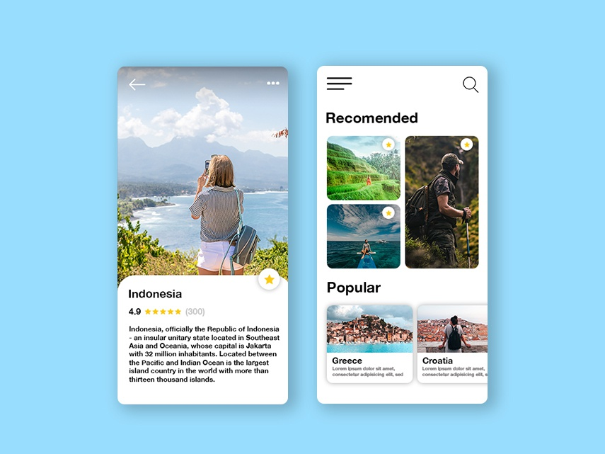 Travel App user interface design userexperiencedesign userexperience userinterface design application uxui ui webdeisgn app graphic deisgn