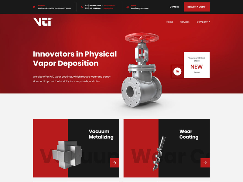 Industrial Web Header 3d red website industrial website industrial header