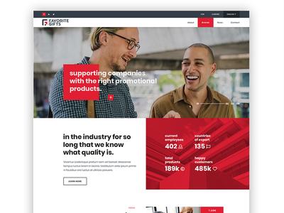 Modern Corporate Homepage