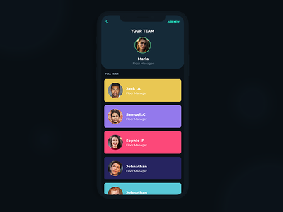 Team Management App