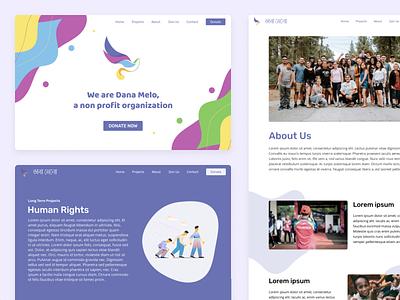 Dana Melo design website flat vector minimal non profit web ui