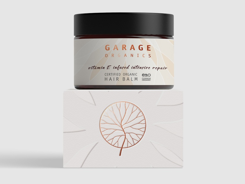 Garage Organics Logo & Packaging hair care body care organic cosmetics cosmetic packaging design vector packaging branding logo