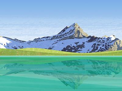 Peakvisor panoramas light hiking hike snow bike mountains bicycle vector design illustration
