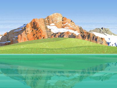 Peakvisor panoramas outdoors hiking vintage hike snow bike bicycle mountains vector design illustration