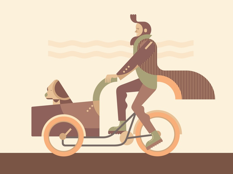 One more bike vector dog bicycles bike bicycle design illustration